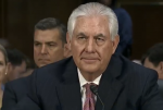 Screen shot from C-SPAN's broadcast of Rex Tillerson's confirmation hearing for secretary of state.