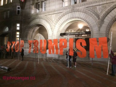 Stop Trumpism at the Trump International Hotel 11-15-16