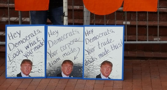 Trump Mirror Protest January 19 at Democratic National Committee Hdqtrs