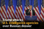Trump attacks intelligence agencies over dossier