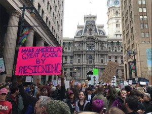 Trump protest in Philadelphia at GOP retreat January 26, 2017 from Twitter