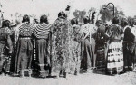 Sioux women at Mandan, North Dakota, in 1912.