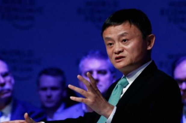 """""""In the past 30 years, America had 13 wars spending $2 trillion,"""" said Alibaba founder Jack Ma. """"What if the money was spent on the Midwest of the United States?"""" (Photo via CNBC)"""