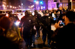 Riot police push back protesters from an inaugural ball venue after the swearing in of U.S. President Donald Trump in Washington January 20, 2017. (James Lawler Dugga/Reuters)