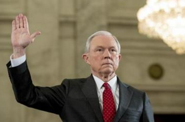 Attorney General-designate, Sen. Jeff Sessions, R-Ala. is sworn in for his confirmation hearing on Capitol Hill in Washington, D.C. on Tuesday. (Photo: AP)