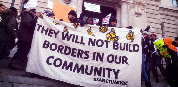 """At a """"Day Without Immigrants"""" rally in Washington, D.C., February 16 (Lorie Shaull / Flickr)"""