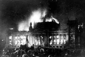 1933 burning down of Reichstag