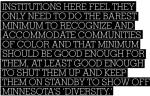 "ANDREA PLAID ON THE ""MINNESOTA NICE"" PHENOMENON http://www.tcdailyplanet.net/minnesota-nice-and-racism/"