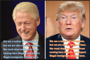 Clinton and Trump on immigration.