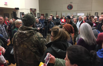 More than 100 protesters  dominate TransCanada Town Hall in Hancock, MD. From Eastern Panhandle Protectors.