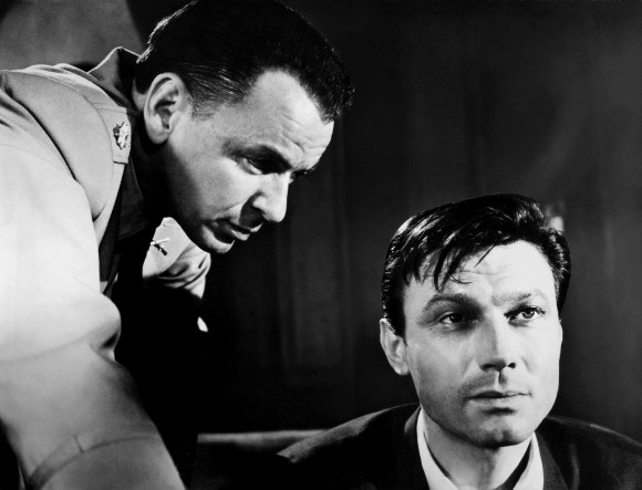 Frank Sinatra and Laurence Harvey in the 1962 film of The Manchurian Candidate. Photograph: Allstar/United Artists