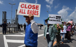 Okinaw protesters call for base closures