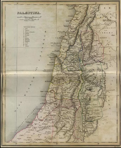 1849 Map of Palestine