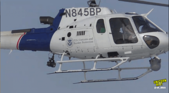 Customs and Border Protection surveillance helicopter