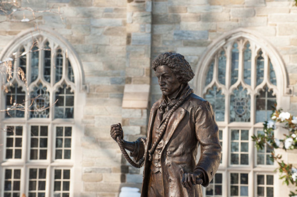 A statute of Frederick Douglass at West Chester University.  West Chester University, CC BY-NC-ND