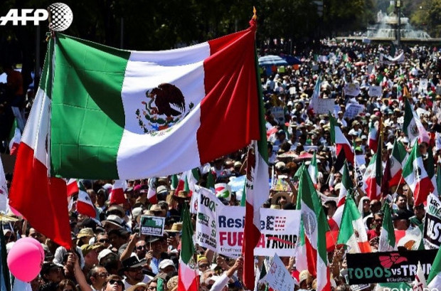 Mexico City March against Donald Trump, February 12, 2017