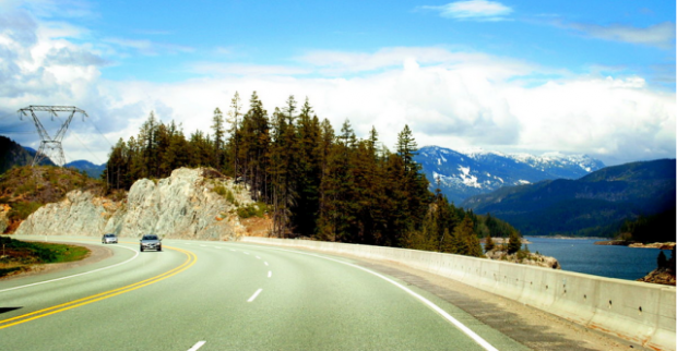 The Sea-to-Sky Highway in British Columbia (photo by D. Vincent Alongi)