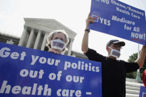 Health care protest at Supreme Court