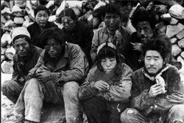 Jeju residents awaiting execution in May 1948, author unknown.