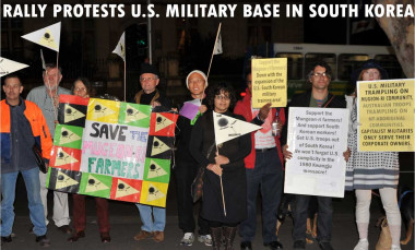 Koreans protest US military bases