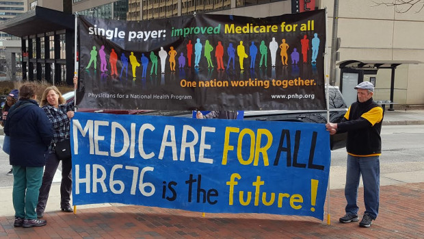 Medicare for All from Bmore protest February 2017 KZeese photo