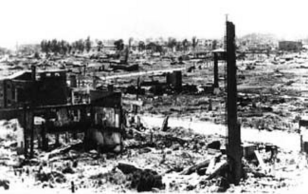 Pyongyang, capitol of North Korea after US bombing.