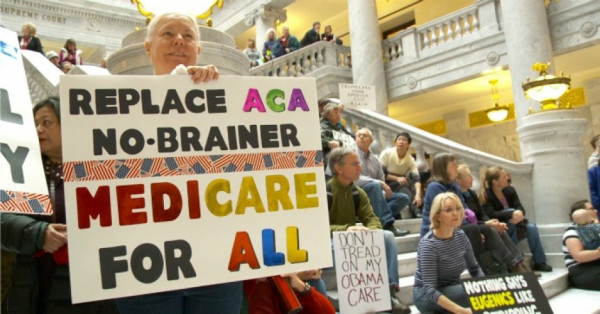 Replace ACA with Medicare for All. Photo from FOX13 Salt Lake City