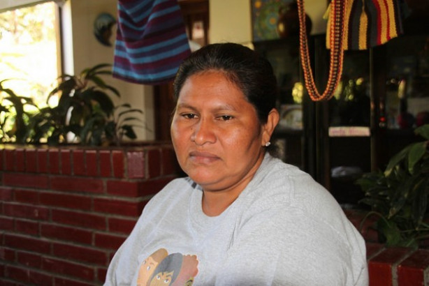 Francisca Ramírez, the head of the peasant movement that is leading the fight against the construction of an inter-oceanic canal in Nicaragua, which has made her a victim of harassment by the administration of Daniel Ortega. Credit: Luis Martínez