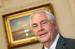 """Former Exxon CEO Rex Tillerson used an email address on the Exxon system under the pseudonym """"Wayne Tracker"""" to discuss climate change from at least 2008 through 2015, New York investigators say. Credit: REUTERS/Joshua Roberts"""