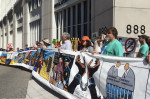 Beyond Extreme Energy protests Fracking at FERC in 2015 with an 80 foot banner. Photo: John Zangas