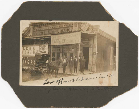 B.C. Franklin and his associates pose before his law offices in Ardmore, Oklahoma, 1910 (NMAAHC, Gift from Tulsa Friends and John W. and Karen R. Franklin) Read more: http://www.smithsonianmag.com/smithsonian-institution/long-lost-manuscript-contains-searing-eyewitness-account-tulsa-race-massacre-1921-180959251/#8axZlEhCRMOUD9TU.99 Give the gift of Smithsonian magazine for only $12! http://bit.ly/1cGUiGv Follow us: @SmithsonianMag on Twitter
