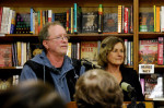 Weather Underground Organization founding members Bill Ayers and Bernardine Dohrn speak in San Francisco, California, February 20, 2009. (Photo: Steve Rhodes)