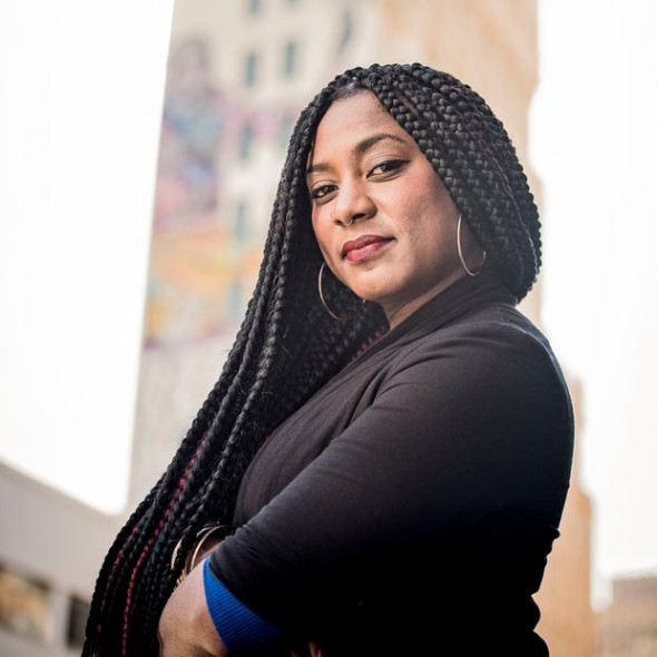 Alicia Garza: 'The resistance is real.' Photograph: Kristin Little
