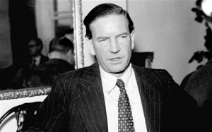 Harold Adrian Russell 'Kim' Philby, a high-ranking member of British intelligence worked as a double agent who defected to the Soviet Union in 1963.