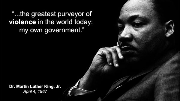 MLK The Greatest Purveyor of Violence meme