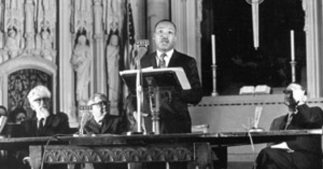 MLK giving Beyond Vietnam speech