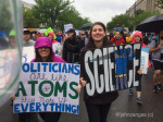 Science March Some signs played science facts against snarky messages. Photo by John Zangas