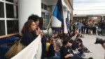 Sit-in at ICE office in Boston, May 24, 2017 by Movimiento Cosecha‏. From @CosechaMovement on Twitter.
