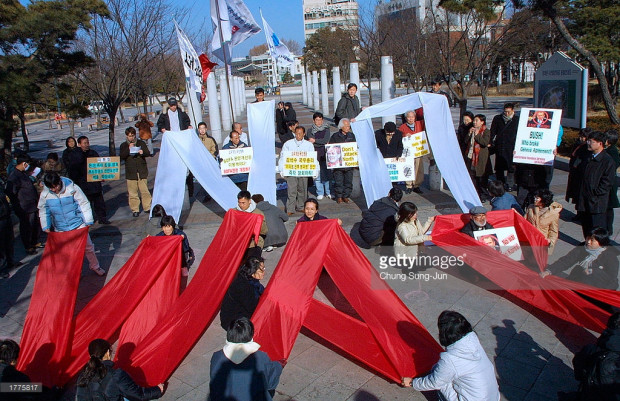 South Korean anti-war protest