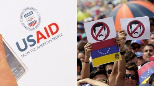 US AID and Venezuela protest photo Reuters