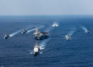 USS Carl Vinson battle group diverted to North Korea