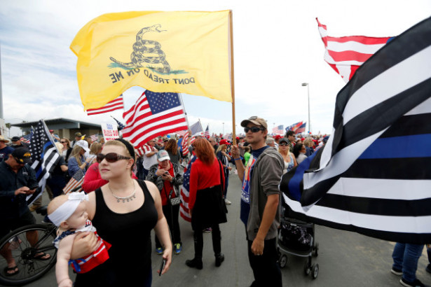 Pro-Trump rally participants in Southern California. — REUTERS