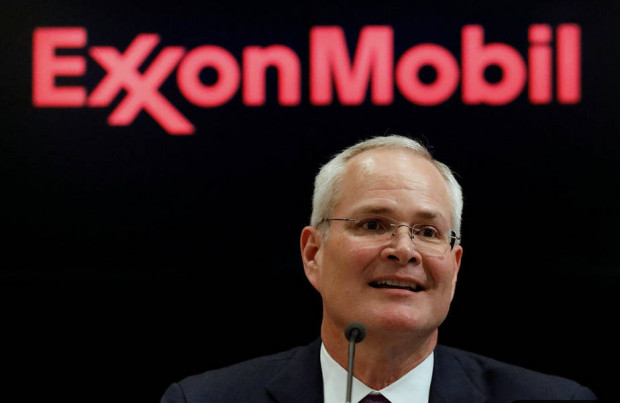 Darren Woods, chairman and chief executive of ExxonMobil. A New York judge has dismissed Exxon's lawsuit challenging climate change probes of two state attorneys general. Credit: REUTERS/Brendan McDermid