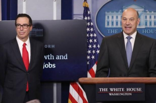 Treasury Secretary Steven Mnuchin (left) and National Economic Advisor Gary Cohn introduced the Trump administration's tax plan on Wednesday. (Photo: Reuters)