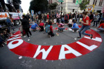 CREDIT: JUSTIN SULLIVAN/GETTY IMAGES Protesters in San Francisco denounced President Donald Trump's plan to build a wall on the U.S. border with Mexico.