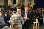 IGOR BOBIC / HUFFPOST At Wednesday's town hall, Rep. Tom MacArthur insisted that no one with pre-existing conditions will be declined coverage or not be able to afford coverage under the GOP bill.