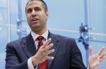 Federal Communication Commission Chairman Ajit Pai participates in a discussion about his accomplishments at the American Enterprise Institute for Public Policy Research in Washington, DC on May 5, 2017. Pai is determined to roll back net neutrality. (Photo by Chip Somodevilla/Getty Images)