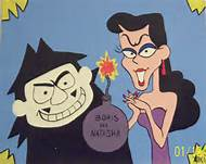 Boris and Natasha, the evil spies from the Rocky and Bullwinkle shows.