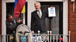 Julian Assange speaking about the UN report from Ecuadorian Embassy