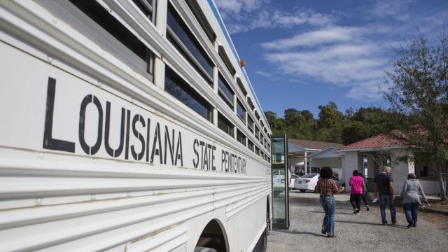 Louisiana prison bus
